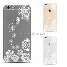 High Quality New Snowflake Christmas cellphone Case for iPhone6 , for iphone 6 cover tpu custom print