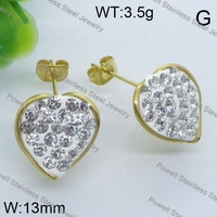 Remarkable design color rhinestone heart shape earring china