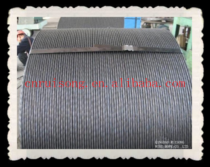 high tensile steel strand wire/ construction material astm a416 grade 270 pc steel strand