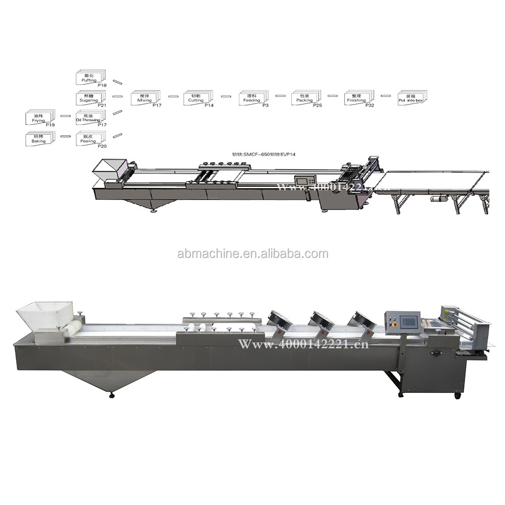 Factory cereal bar machine granola bar making machine/production line
