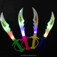 Hot Sell Plastic LED Flashing Musical Toy Sword For Kid