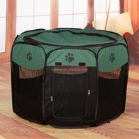 Automatic pop up pet tent with eight panels/dog cage/durable pets sided cage tent