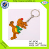 Cheap new fashion PVC rubber 3d promotional keychain
