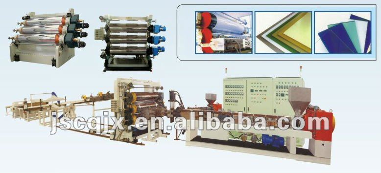 PP/PE/PVC Plastic Plate/board production line