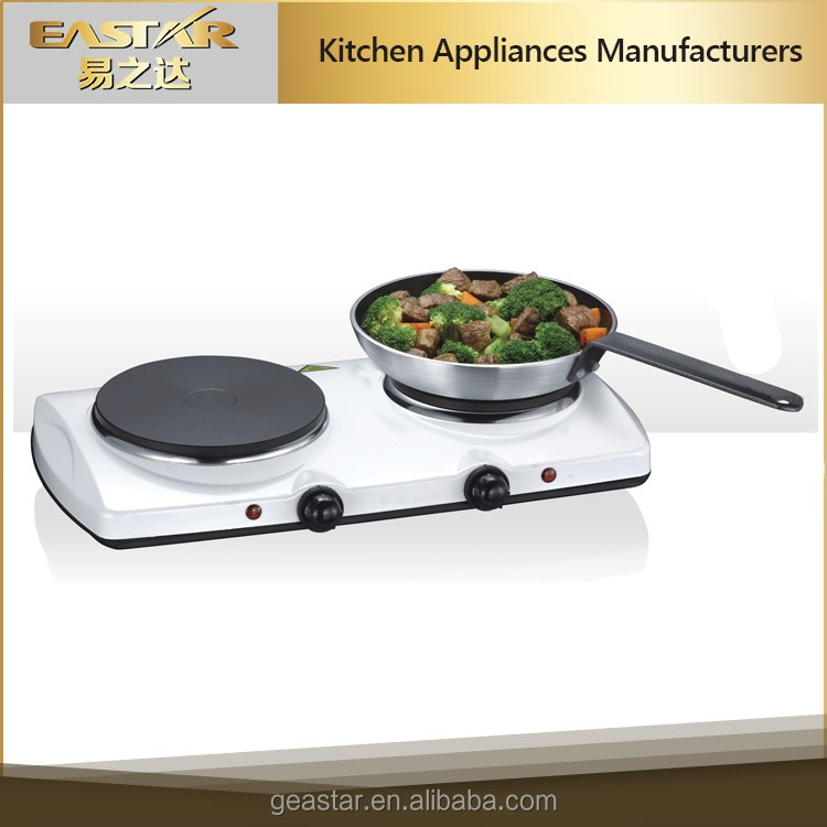 2017 hot sale 2 burner electric hot plate heating stove cast iron heating element electric cooktop