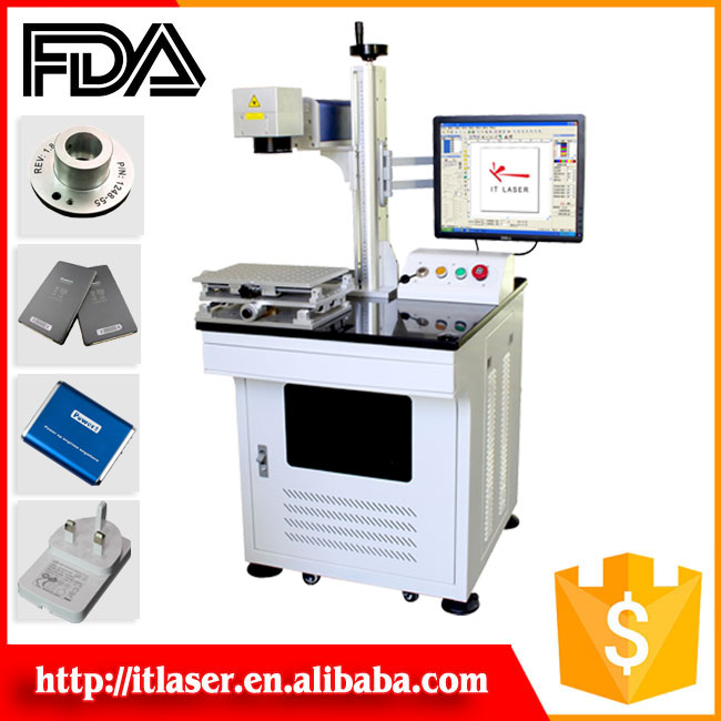 China Good gold hallmarking machine laser marking machine for metal-coated materials