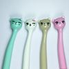 Cute Cat & Flowers Kawaii Fun Black Gel Ink Roller Ball Point Pen Perfect Gift for Child Girls Totally Lovely New Xmas Gift