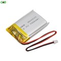 rechargeable li-ion battery 802535 3.7v 700mah lithium polymer battery li-ion battery