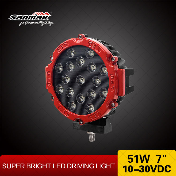 Best Selling 51w LED Driving Light 2 Ring Colors Available