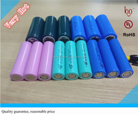 3.7V 2000mAh ICR 18650 rechargeable lithium li-ion battery cell