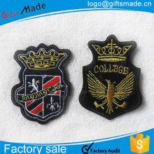 embroidered patch with adhesive back,custom stick-on embroidered patches