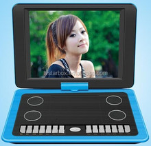 high quality dvd/evd home portable dvd player with big screen ajy-126 portable dvd player
