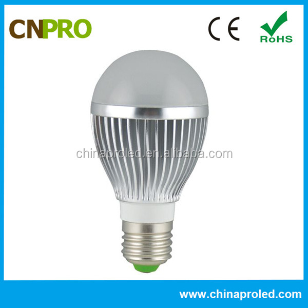 Factory price Aluminum+PC cover e27 led light bulb with CE RoHS certification