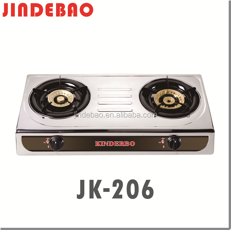 OEM Kitchen Appliance Table Top Stainless Steel 2 Big Burner Gas Stove