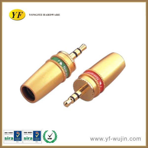 Stereo Male Plug connector/ Internal Thread Connector