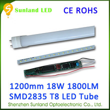 Eco-friendly SMD2835 CE ROHS passed 1200mm led lights t8 -4ft 6500/7000k