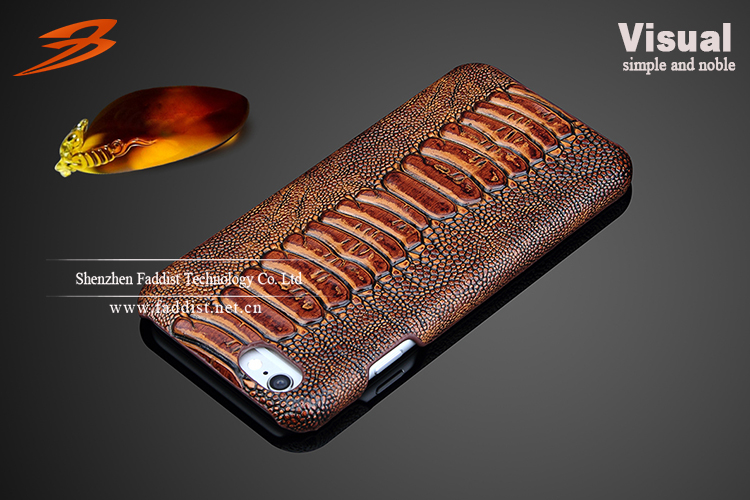 Luxury first layer cowhide leather back cover case for iphone 6 case
