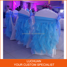 Chiavari Chair Banquet Blue Organza Curly Willow Chair Sash