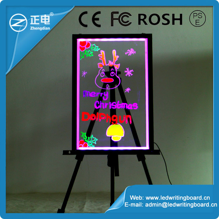 [ZD]max Trade assurance diy transparent acrylic led writing board for sale