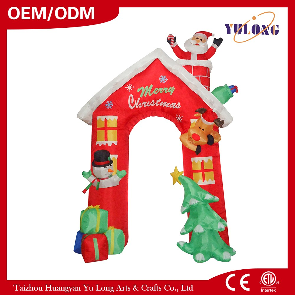 Santa Claus House arched door christmas decoration motor