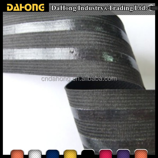 High elasticity cheap non-slip elastic webbing band with silicone