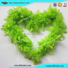 FK Feather 25gram Green Kids Feather Boas For Kids Birthday Decoration