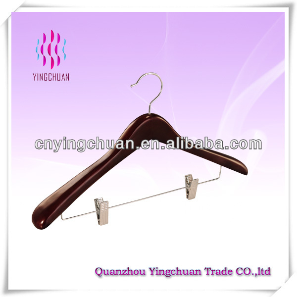 Suit hanger with locking bar
