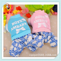 Warm cotton pet dog clothes winter dog jumpsuits