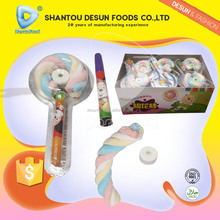 marshmallow lollipop in blister packing with roll candy & children pen
