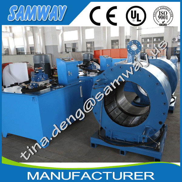 SAMWAY crimp ocean hose swaging machine up to 25 inches S500