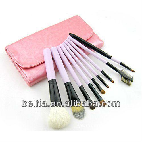9pcs cosmetics brush set ,kit,makeup brushes,kit plus pu bag