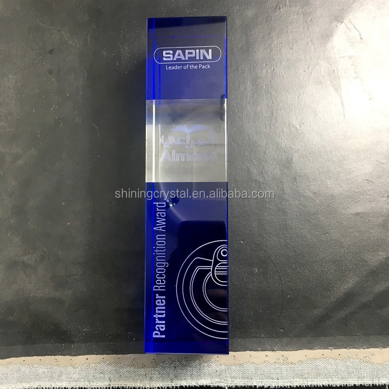 2018 New Design Crystal Trophies With Custom Engraved Words