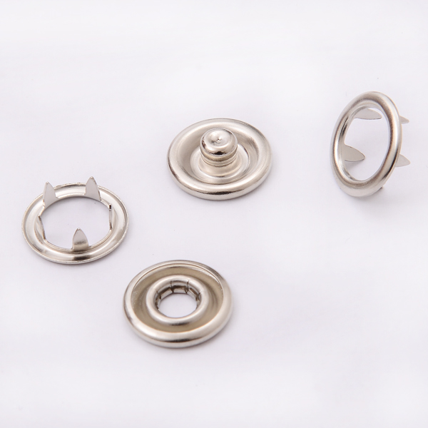 Metal Silver Ring Snap Button