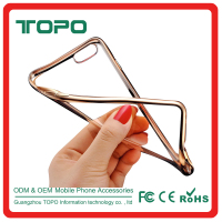 Clear Ultra Thin Plating Silicone TPU Case Skin Cover Shock Proof Electroplate frame soft TPU phone case for iphone 6 6s plus