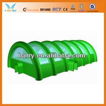 green inflatable paintball field equipment