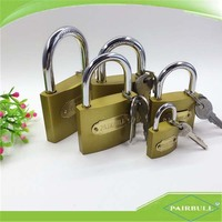 factory 38mm satin brass security padlock with 3 master keys