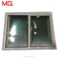 White color high quality conch upvc windows sliding glass door
