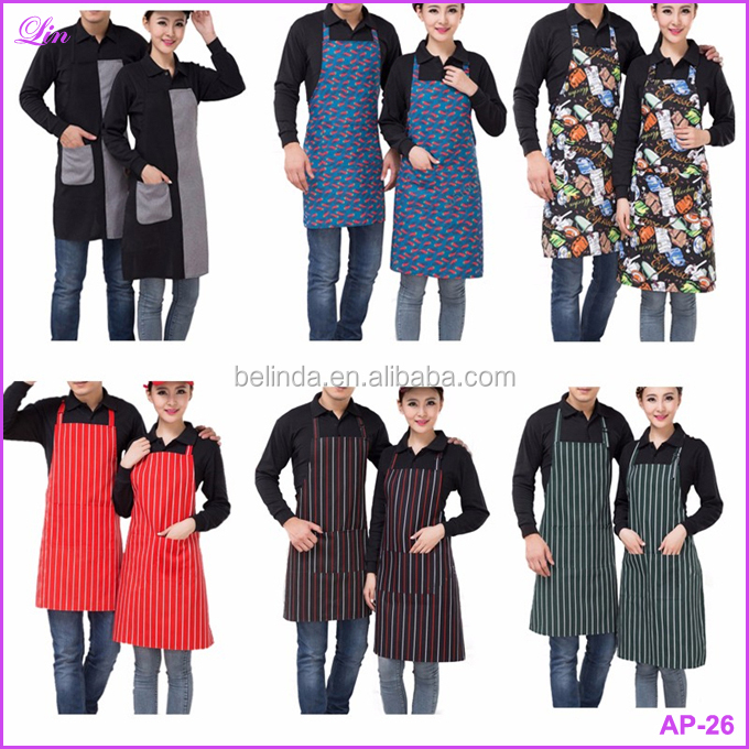 Apron Adjustable Chili Pattern Apron Chef Waiter Kitchen Cook Apron With Pockets Bib