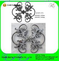 Cast & Forge Type Low Price Wrought Iron Rosettes Components