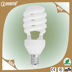 CE RoHS 20W 25W Home lighting cfl lamp Half Spiral Energy Saving Bulbs