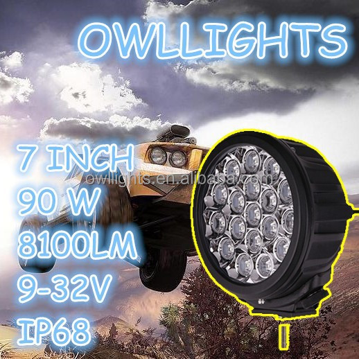 OEM service auto parts 4x4 accessories led truck light 90W Led work light 90W Led driving light for JEEP BOAT 4WD SUV ATV UTV