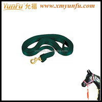 Horse Lead Rope Flat Nylon Lunge Line with Snap - 1