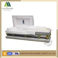China wholesale funeral metal coffins and caskets