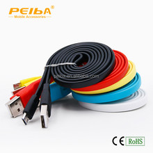 classic design Colorful noodle usb data cable charge and transfer data for all smartphones