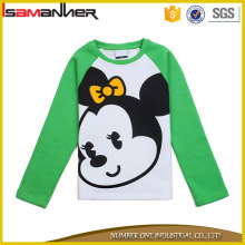 New design printing cartoon cute autumn long sleeve t shirt for kids