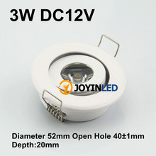 3w Mini Cob Ceiling Light White Housing Round Led Ceiling Spot Light
