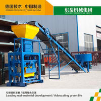 manual QT40-1 small fly ash concrete block making machine price