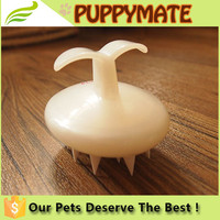Hot New Products For 2016 Innovation Silica Pet Bath Brush with Plastic Handle Pet Dog Cleaning and Grooming