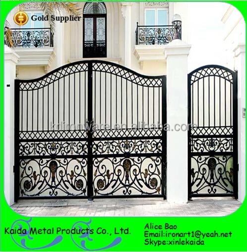 Wrought iron gates double doors metal