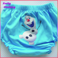 Blue bear bloomers cotton baby girl diaper cover the children of the model of photo in the shorts
